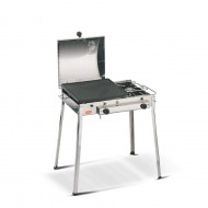 Barbecue ghisa gas Combinato INOX